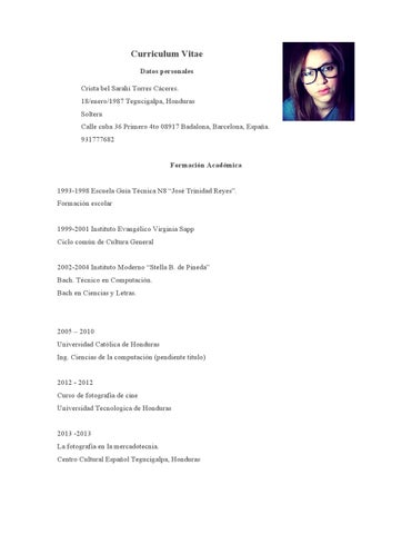 Curriculum By Cristabel Torres Issuu