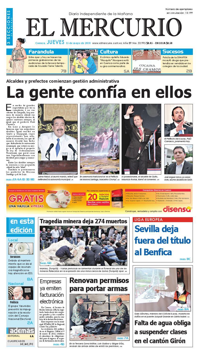hemeroteca 15-05-2014 by Diario El Mercurio Cuenca - issuu 843fb1ff150