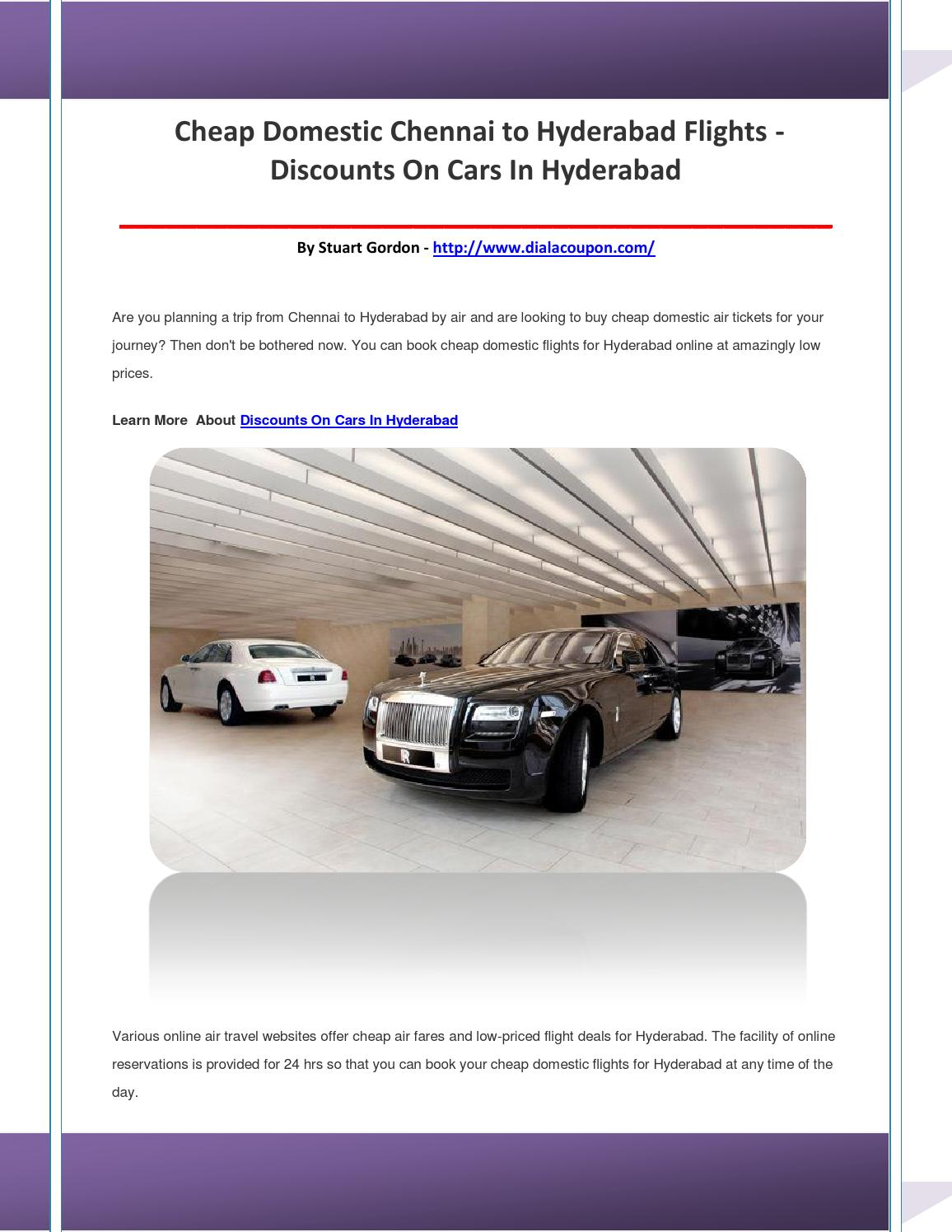 Discounts on cars in hyderabad by aohdglbnlo - issuu