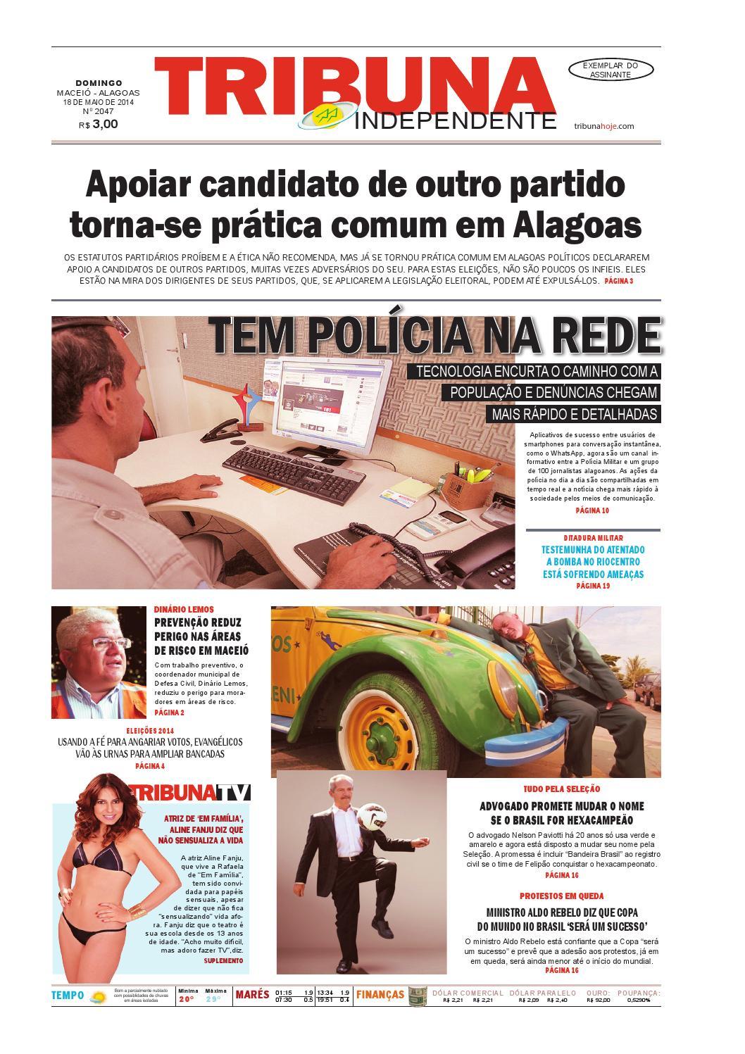1a9e1753f Edição número 2047 - 18 de maio de 2014 by Tribuna Hoje - issuu