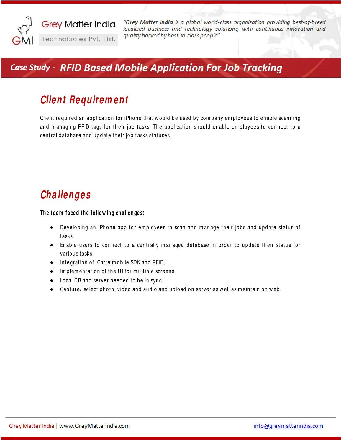 Rfid Based Job Tracking Mobile Application For IPhone by