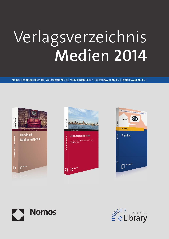 Verlagsverzeichnis Medien 2014 by Nomos - issuu