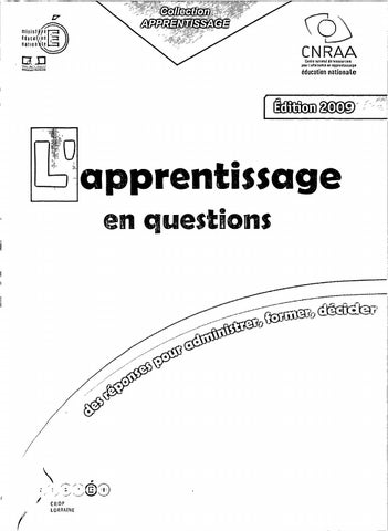 3f900bbd4c4 Collection apprentissage lapprentissage en questions by gsmart - issuu
