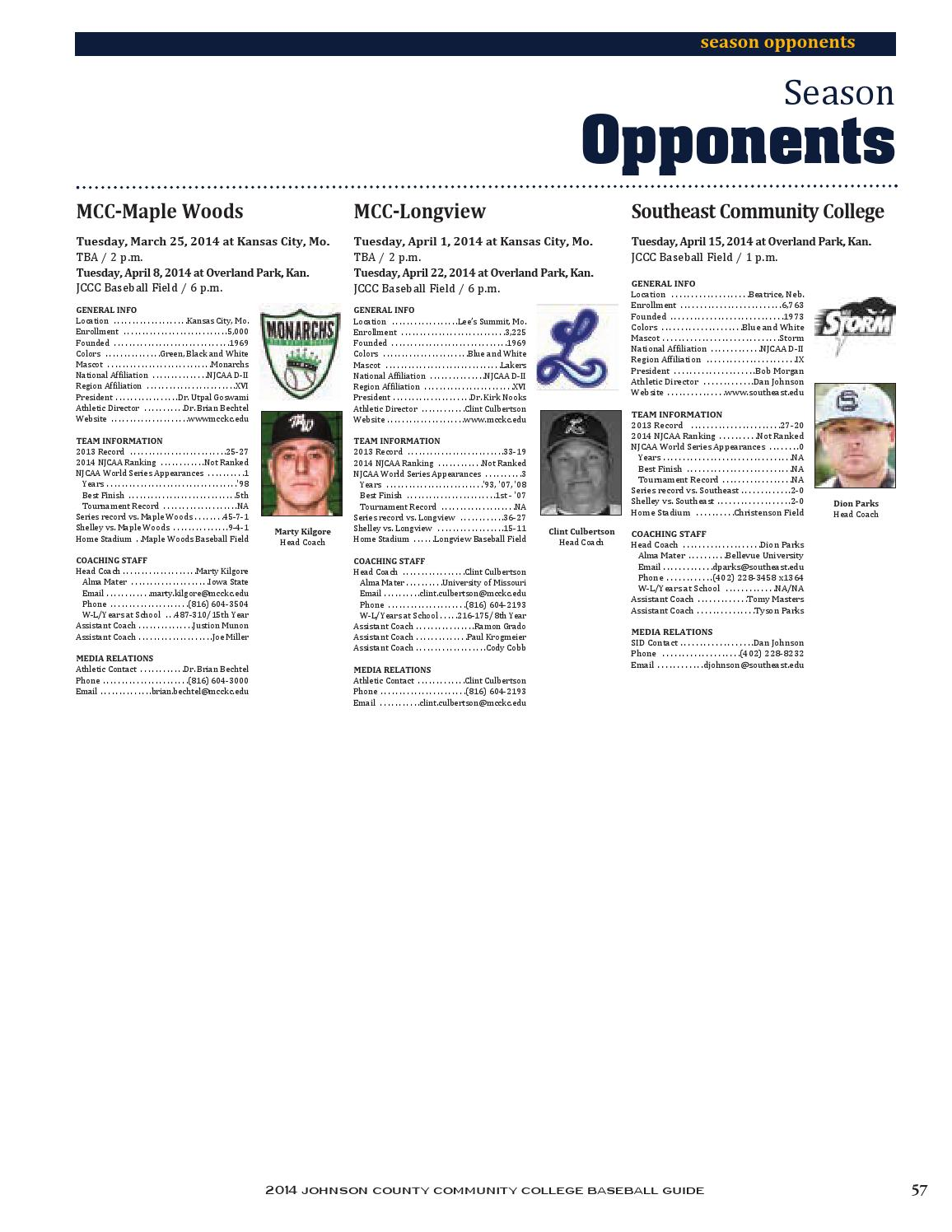 Spring 14 baseball media guide by Chris Gray - issuu
