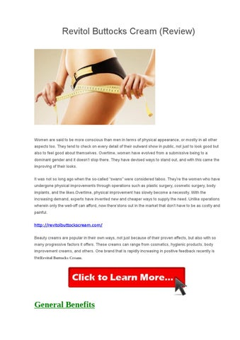 Revitol Butt Enhancement Cream By Revitol Issuu