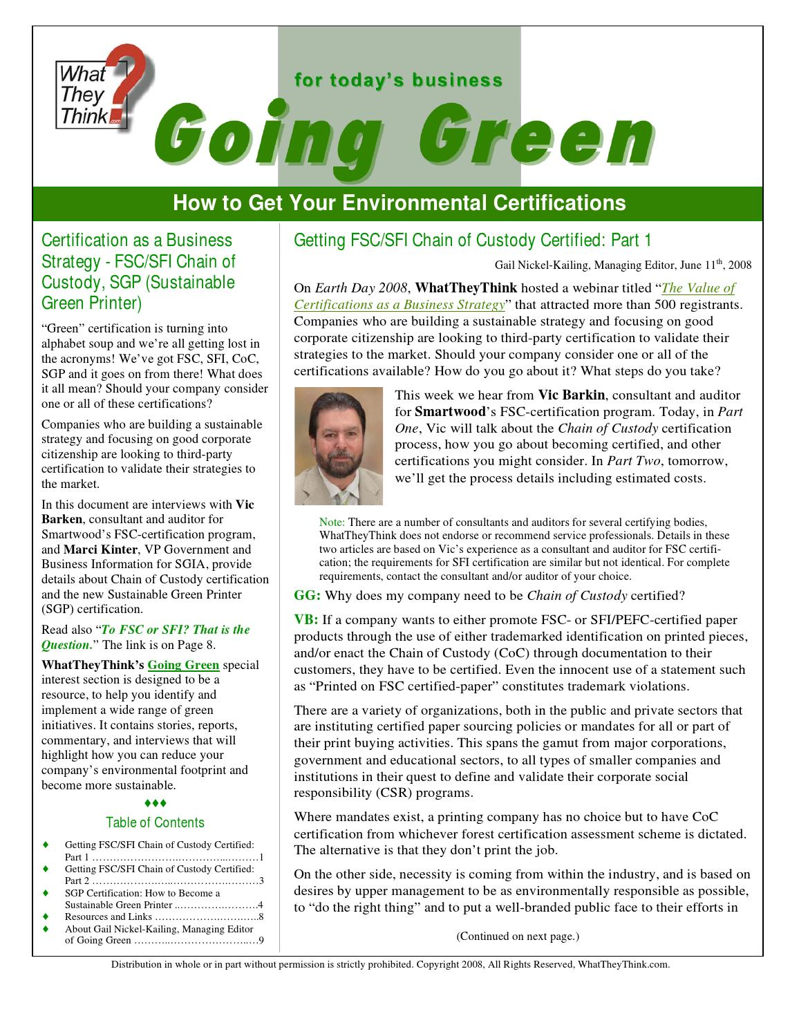 How to get your environmental certification by gail nickel kailing how to get your environmental certification by gail nickel kailing issuu 1betcityfo Choice Image