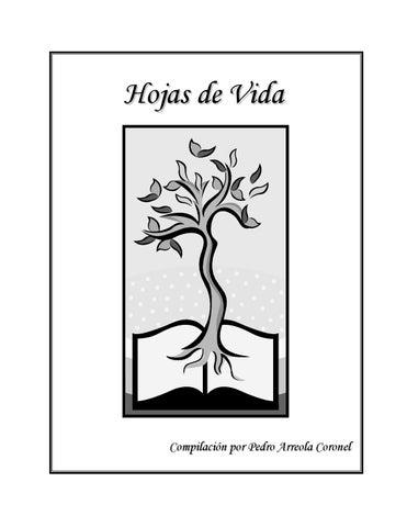 Hojas de vida. Compilación de Pedro Arreola Coronel. by Pedro ...