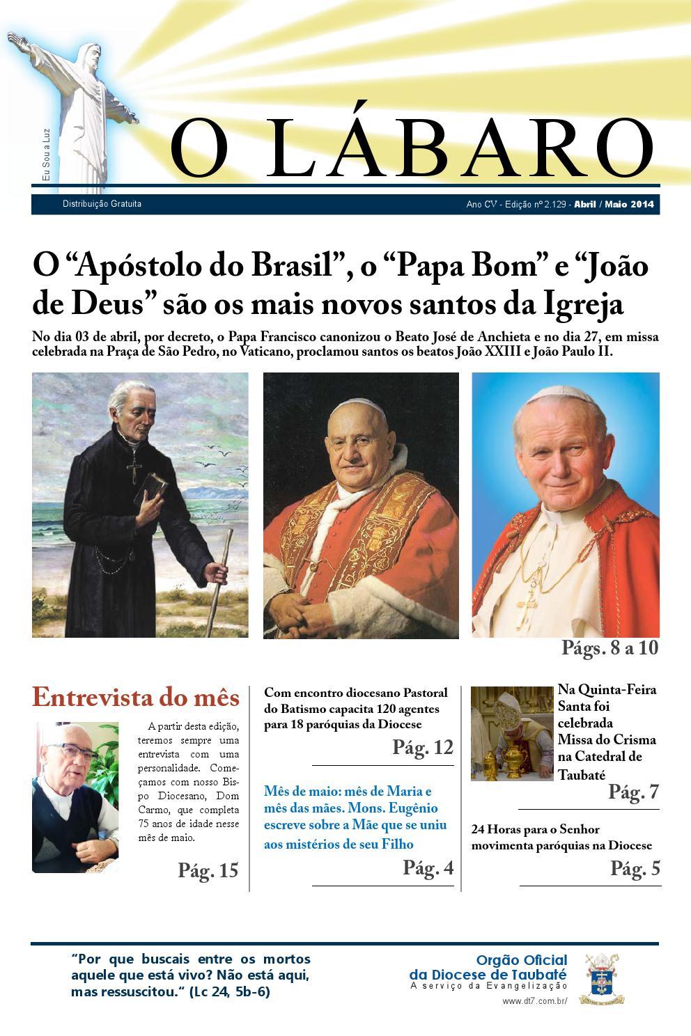 63ad7e36c31 Jornal O Lábaro - Abril e Maio de 2014 by Diocese Taubaté - issuu