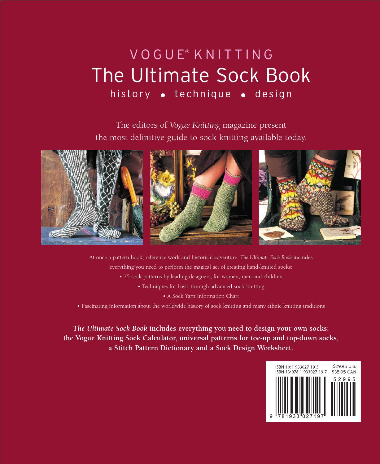 Vogue Knitting The Ultimate Sock Book History Technique Design By