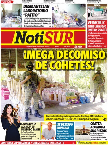 NotiSUR 24 de Noviembre 2012 by Diario NotiSUR Coatzacoalcos 2012 ... 4bf4dde6c0b77