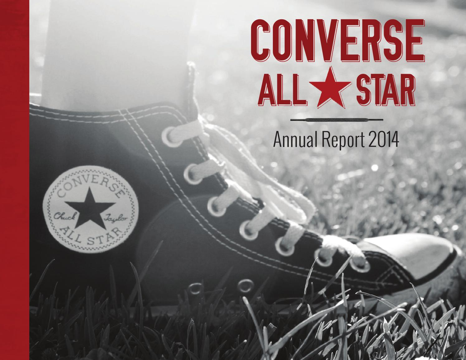 converse shoes annual report