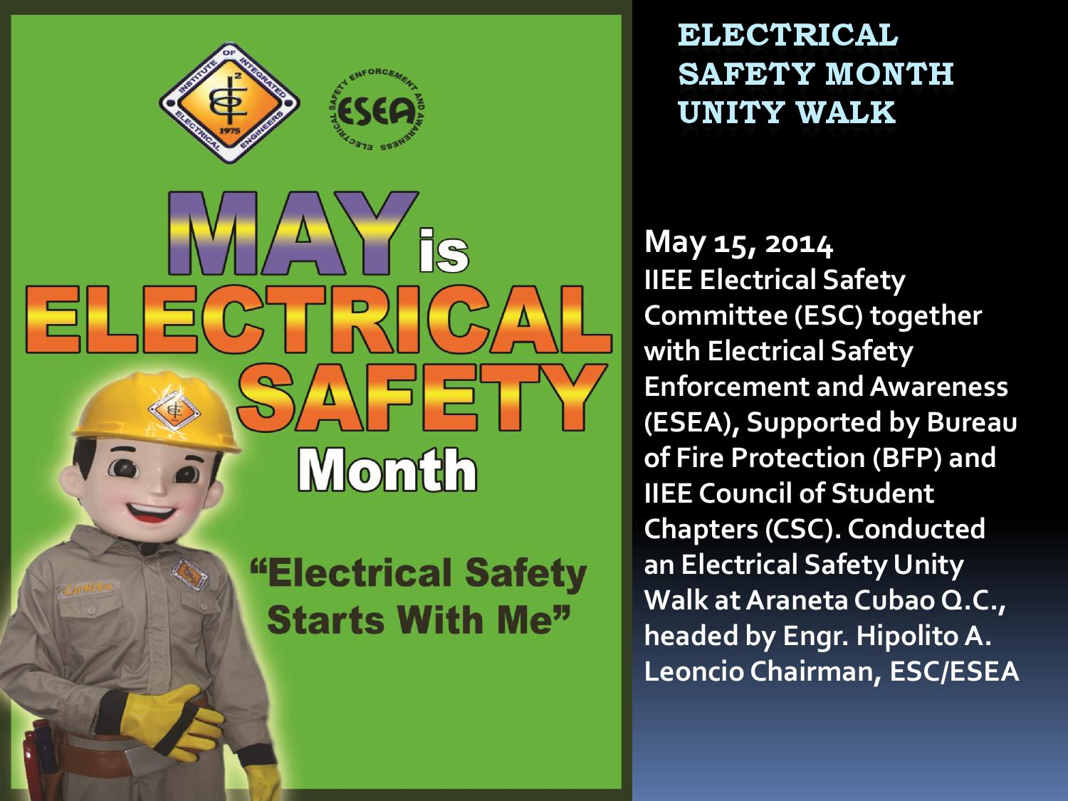 Electrical Safety Month By Institute Of Integrated