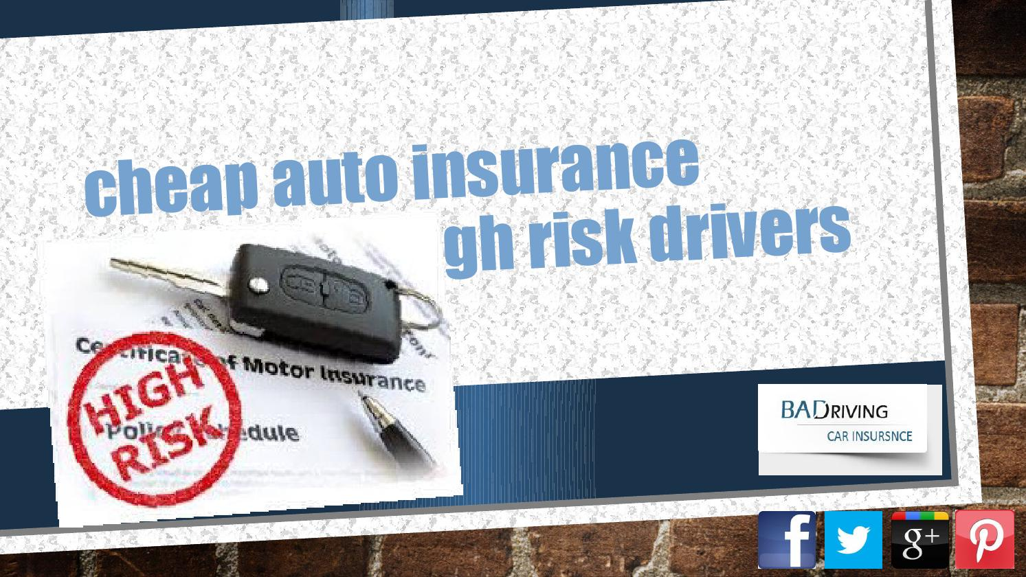 High Risk Car Insurance >> Cheapest Car Insurance For High Risk Drivers By Frank Thomas