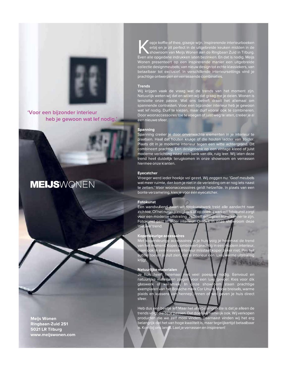 Design Bank Wit Leer.Puur Den Bosch Voorjaar 2014 By Puur Den Bosch Issuu