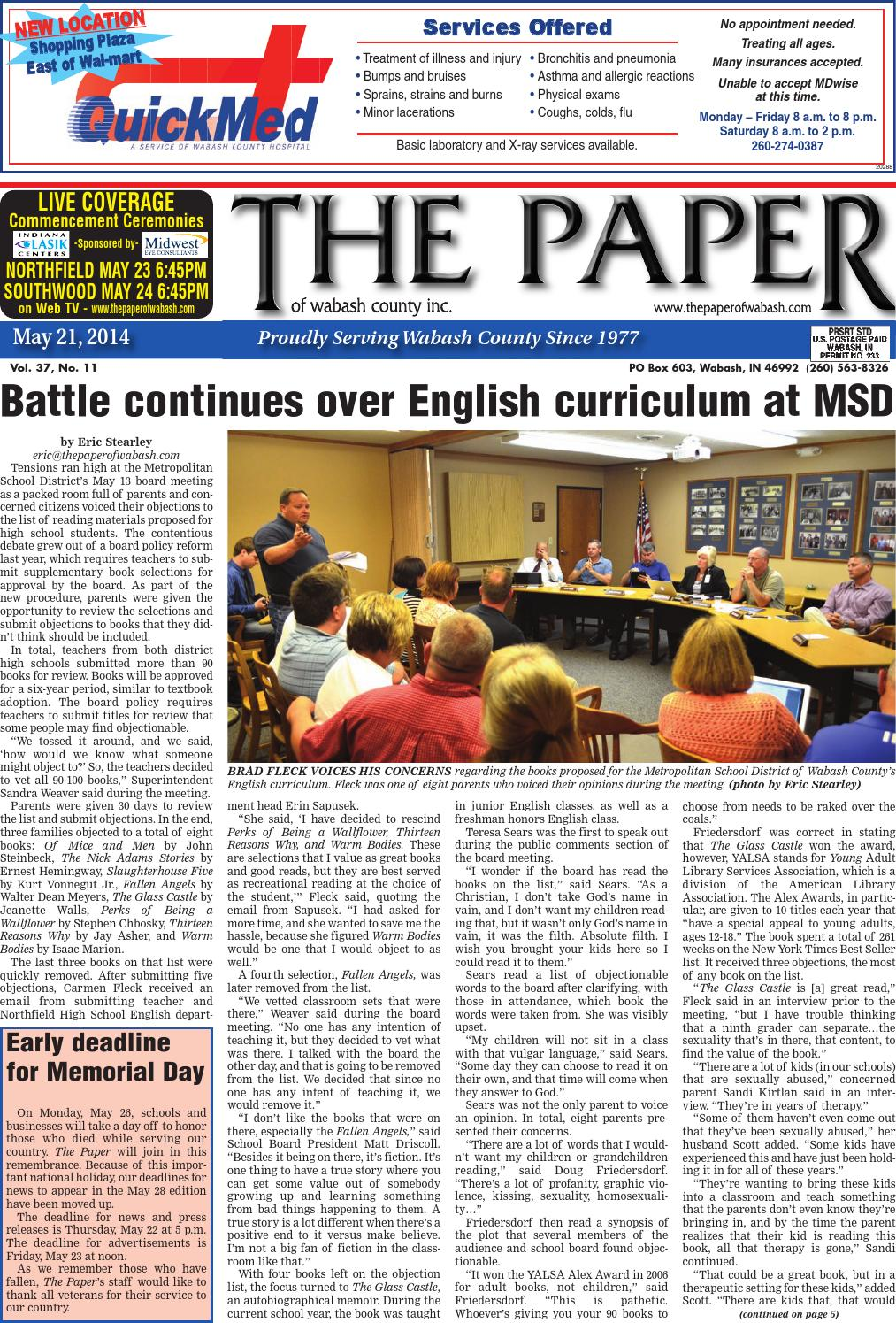 May 21 2014 by the paper of wabash county issuu fandeluxe Image collections