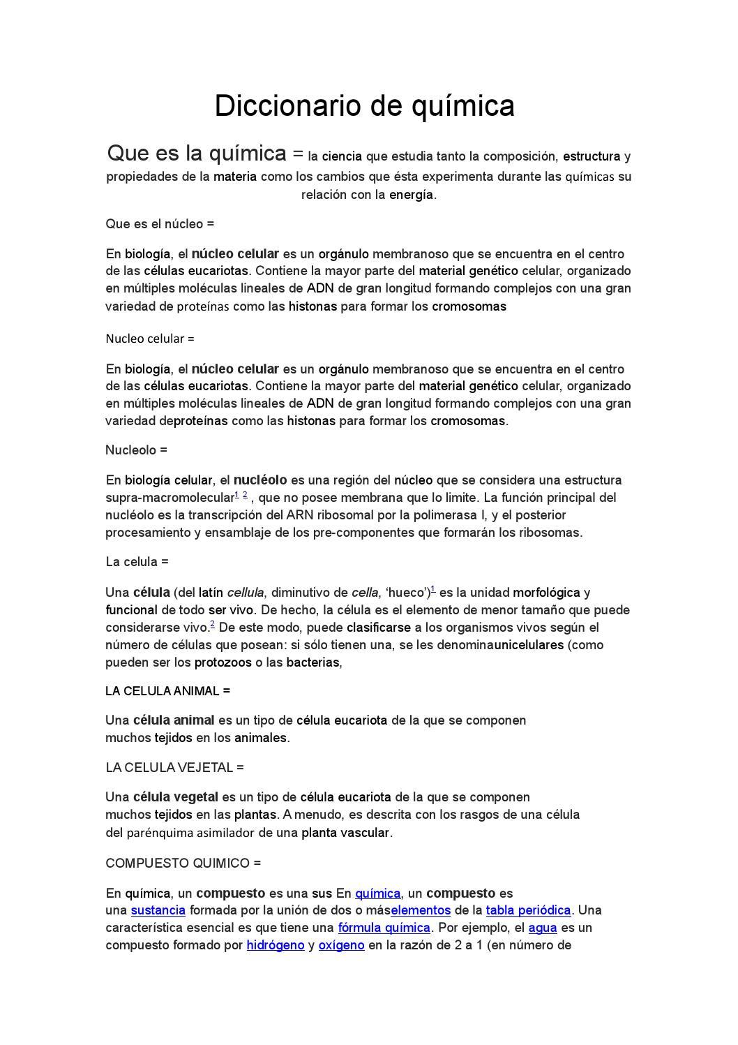 Diccionario De Química By Alejo Garzonmejia Issuu