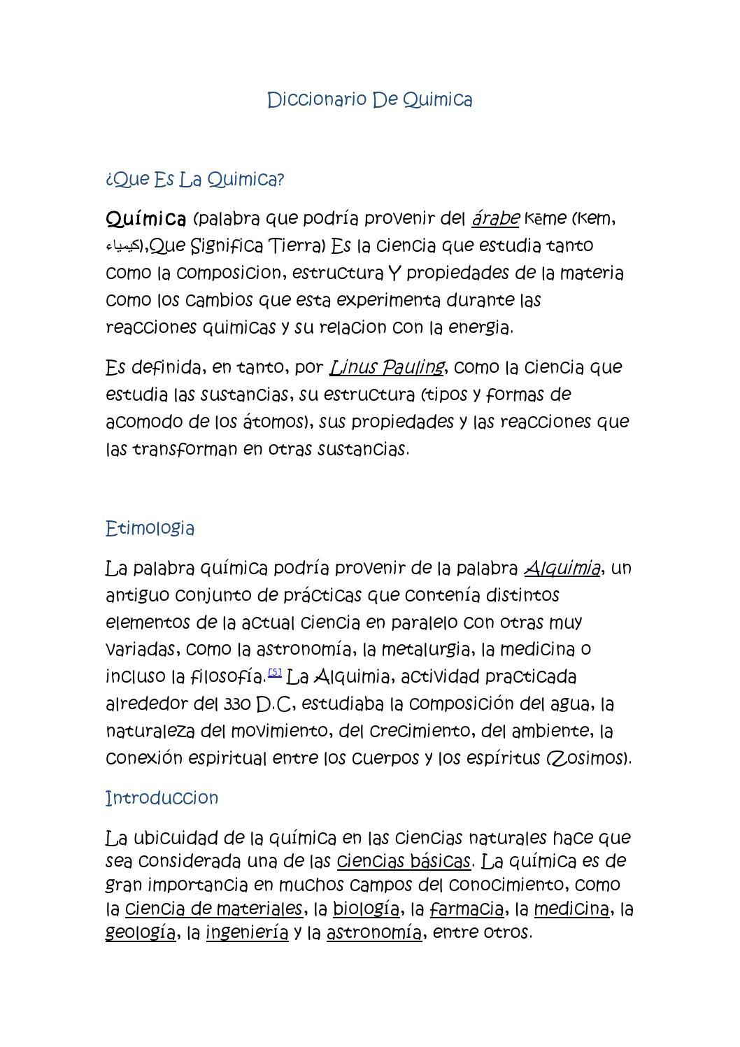 Diccionario De Quimica By Liiz Rpô Issuu