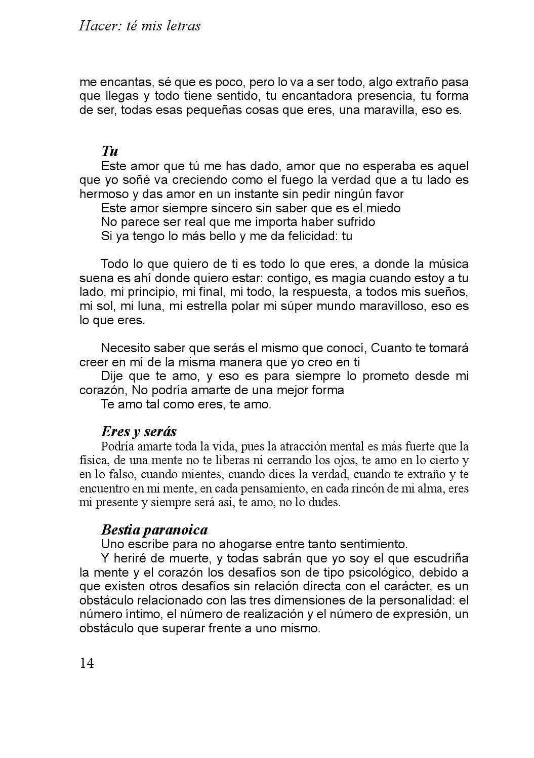 Hacer Té Mis Letras By Jocelyn Gutierrez Issuu