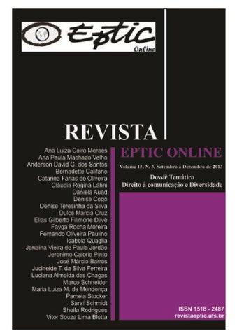 5de1d75c9 ... de Economia e Comunicação (OBSCOM) e ao Programa de Pós-Graduação em  Comunicação da Universidade Federal de Sergipe Volume 15, número 3,  set.-dez. 2013.