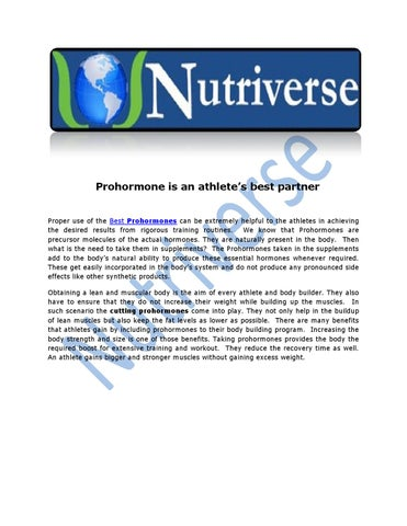 Prohormone is an athlete's best partner by Nutriverse - issuu