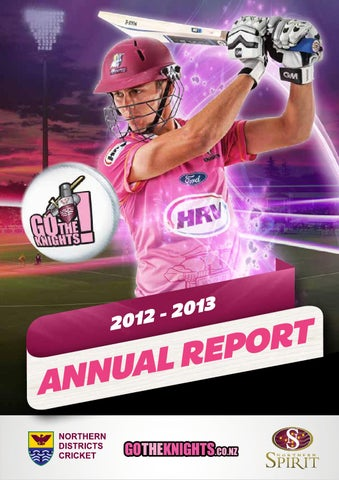 2012 13 Annual Report By Northern Districts Cricket Issuu