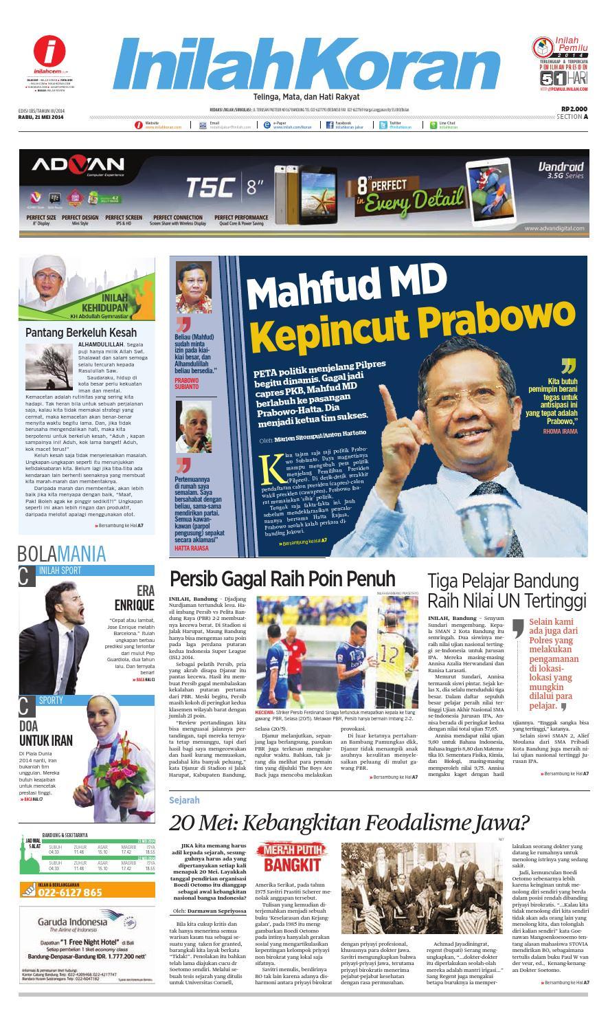Mahfud MD Kepincut Prabowo by inilah koran - issuu d0633b31b3