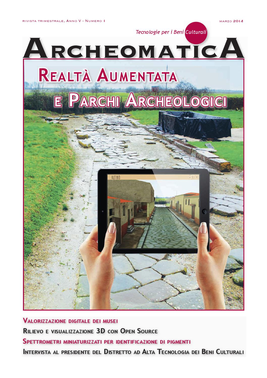 Archeomatica 1 2014 By MediaGEO Soc Coop Issuu
