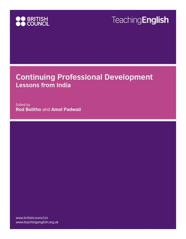 continuing professional development lessons from india by british