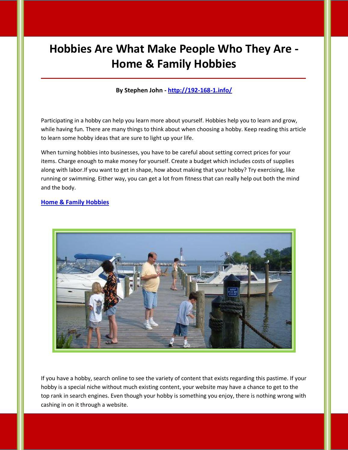 Home & family hobbies, by nbhvbfgcvdfcgdbvchd - issuu