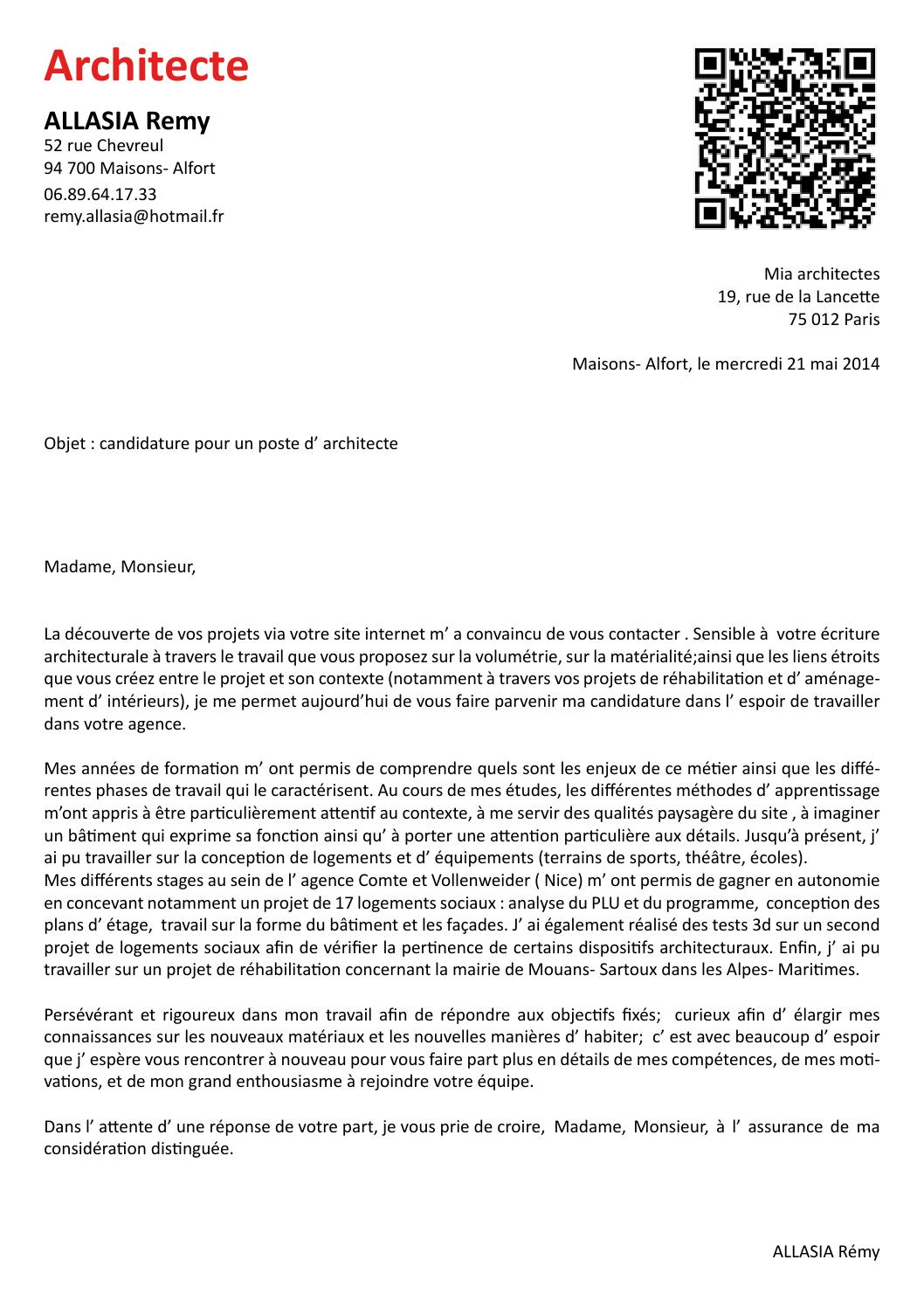 Lettre Motivations Miapdf By Allasia Issuu