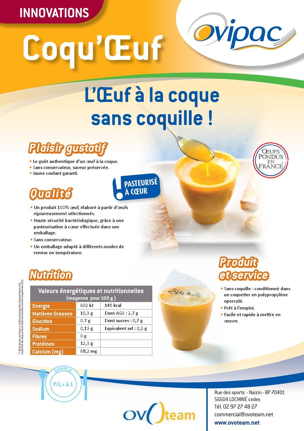 L 39 uf la coque sans coquille par ovipac by gsh issuu - Oeuf a la coque sans coquetier ...