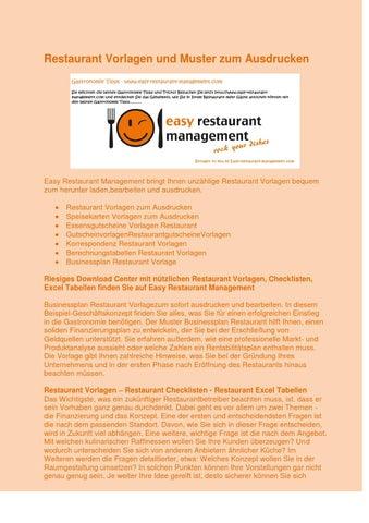 restaurant vorlagen und muster zum ausdrucken by easyrestaurant issuu. Black Bedroom Furniture Sets. Home Design Ideas