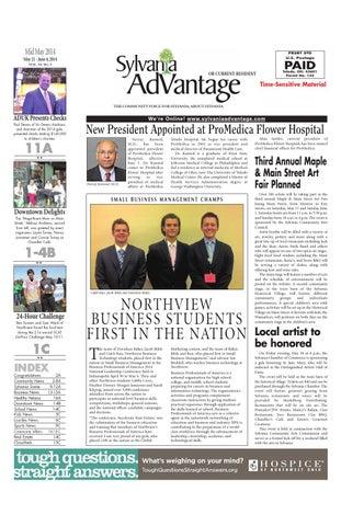 Mid May Issue May 21 2014 By Sylvaniaadvantage Issuu