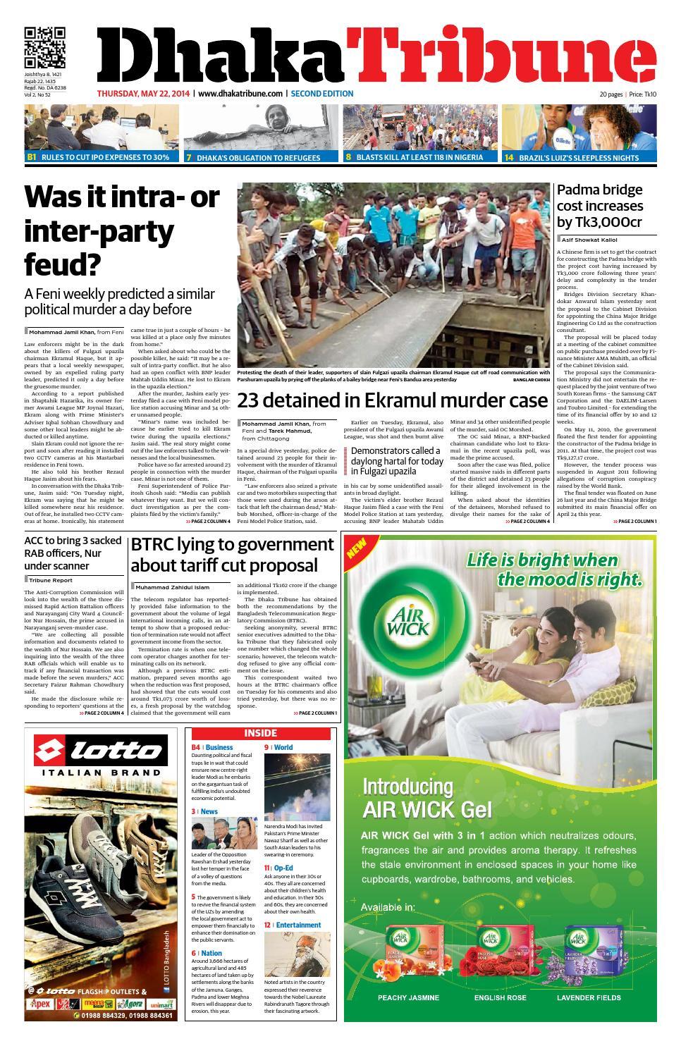 22 May 2014 by DhakaTribune issuu