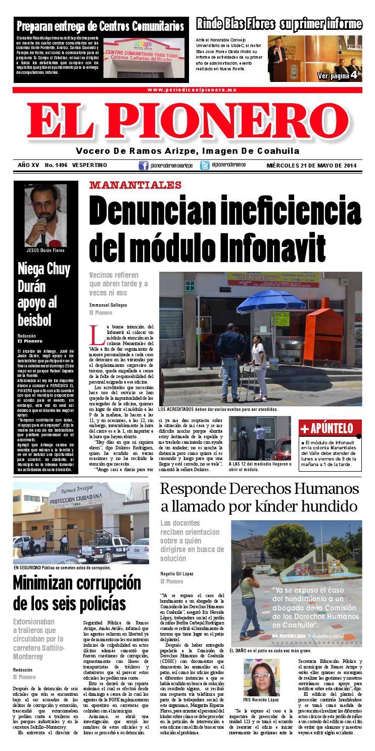 21 Mayo 2014 By Periódico El Pionero Issuu