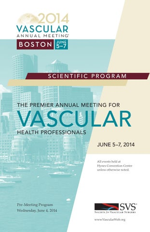 1293b29277 Program book for the Vascular Annual Meeting by Society for Vascular ...