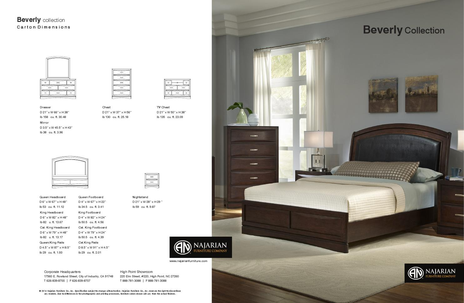 Beverly Bedroom By Najarian Furniture