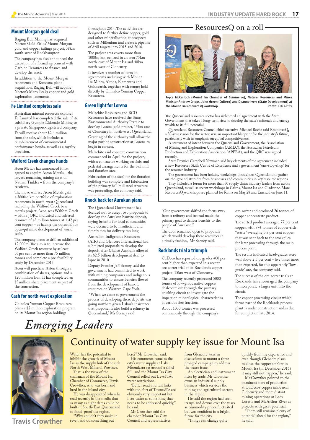 The Mining Advocate May 2014 edition by The Mining Advocate - issuu