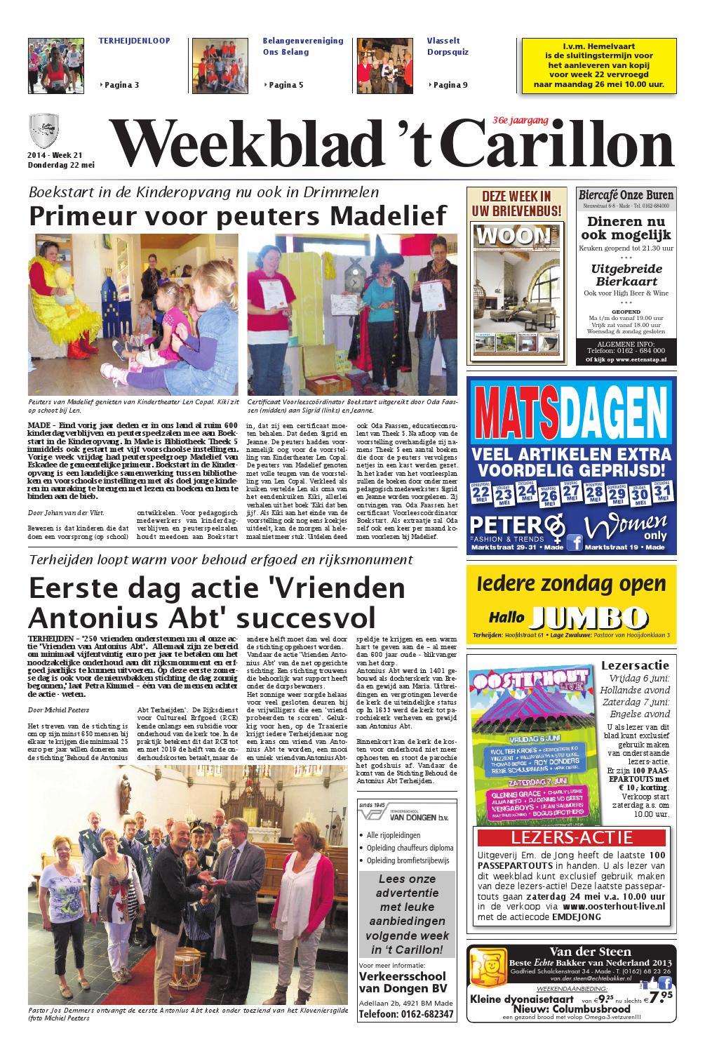 Weekblad 39 t carillon 22 05 2014 by uitgeverij em de jong for Nassau indus deur bv oosterhout