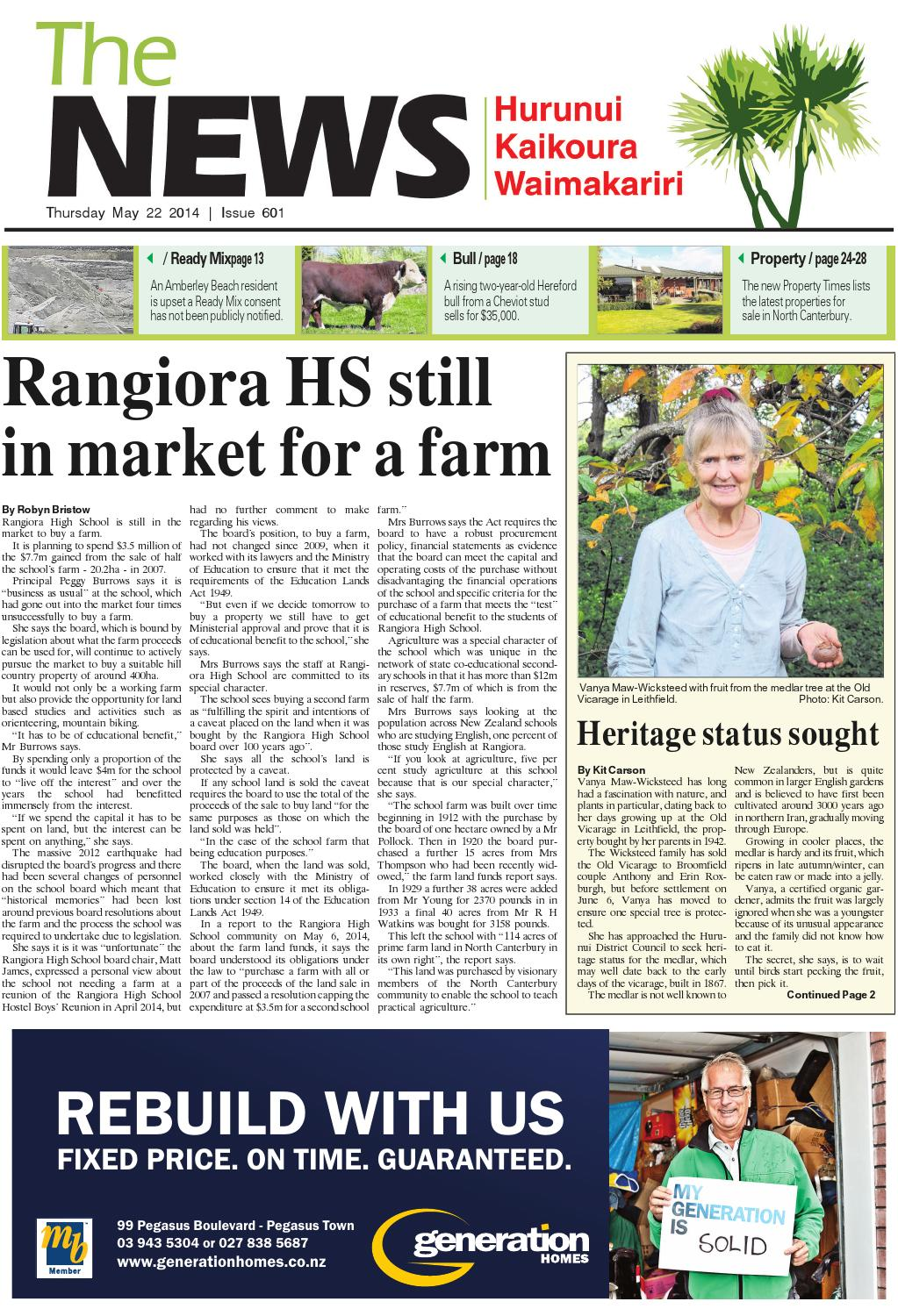 The News North Canterbury 22-05-14 by Local Newspapers - issuu