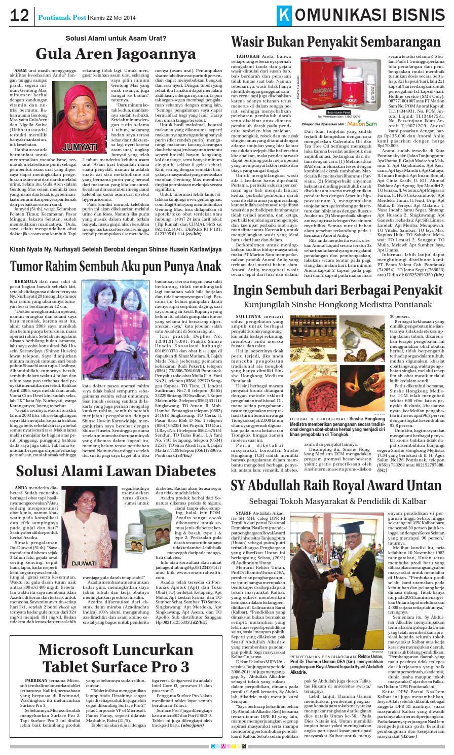 22052014 By Pontianak Post Issuu Anoral Anliq Mengobati Wasir Parah