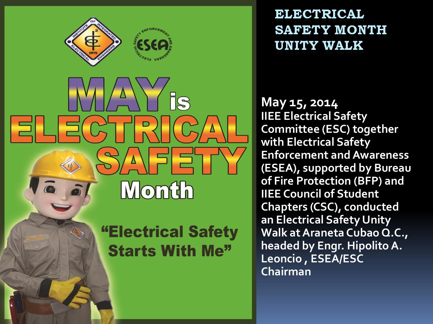 Electrical Safety Month4th Rev By Institute Of Integrated