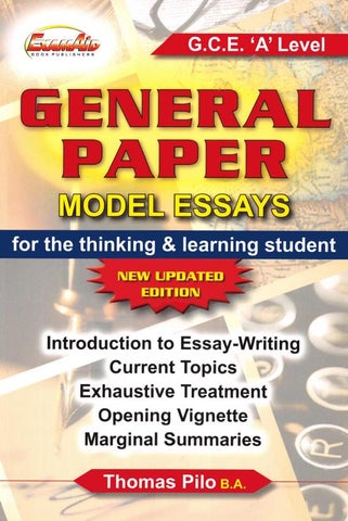 Preview A Level General Paper Model Essay By Tusachduhoc  Issuu Page