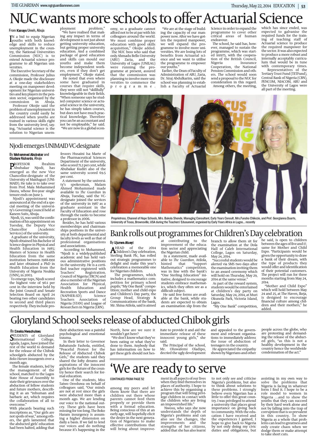 Thur 22 May 2014 by The Guardian Newspaper - issuu