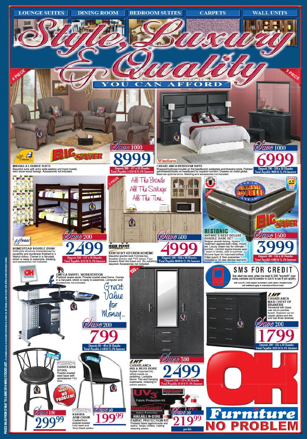 Ok furniture furniture catalogue validity 27 may 8 june for Furniture catalogue
