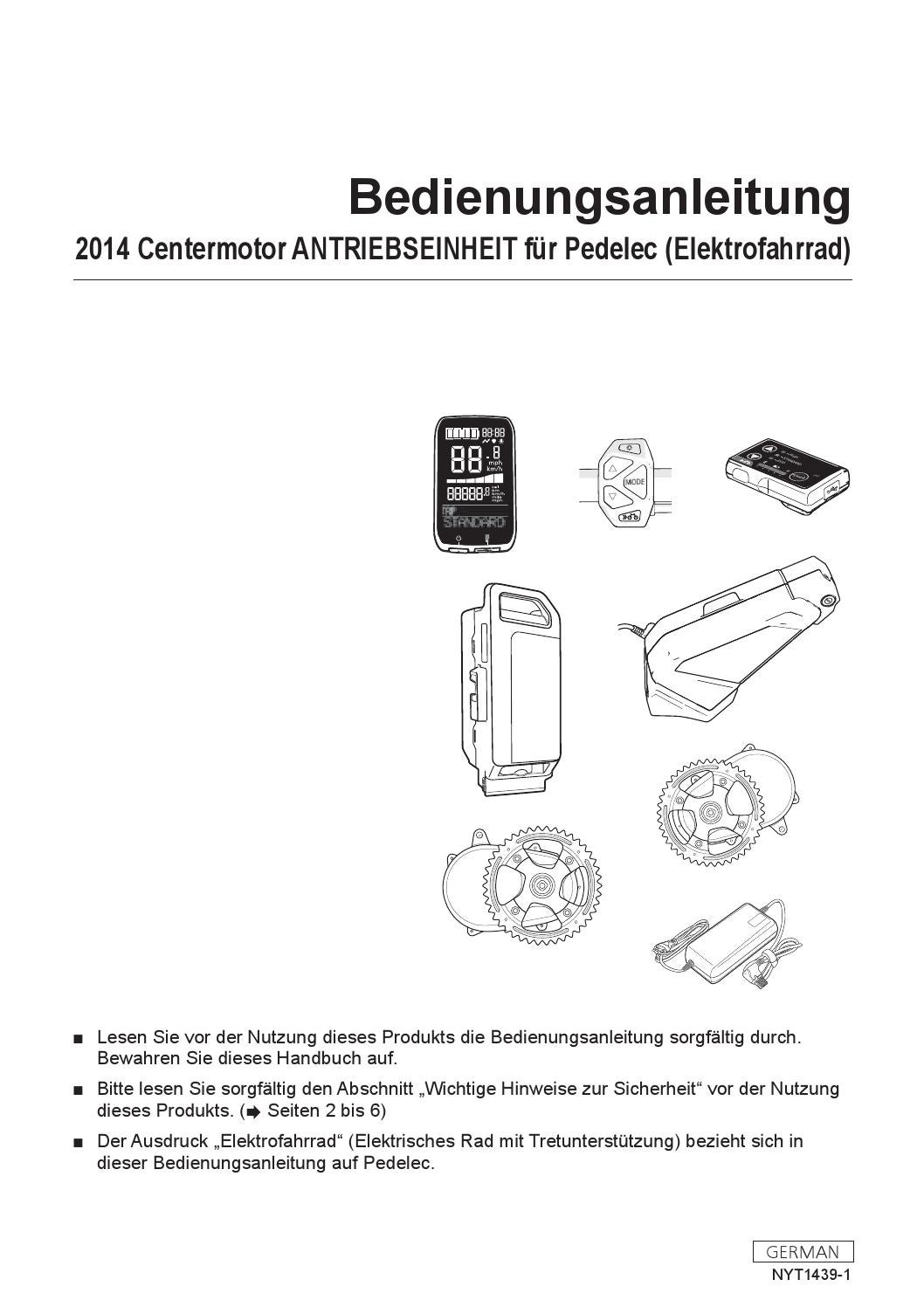 Bedienungsanleitung Panasonic FLYER 2014 by FAHRRADIES ...