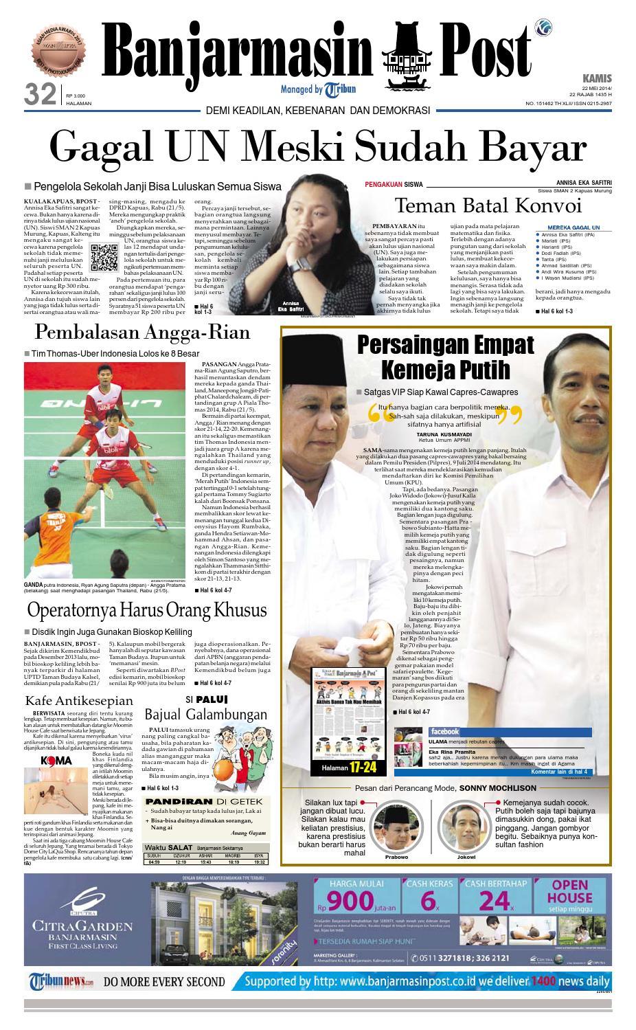Banjarmasin Post Kamis 22 Mei 2014 By Issuu Produk Ukm Bumn Tenun Pagatan Atasan Wanita 4