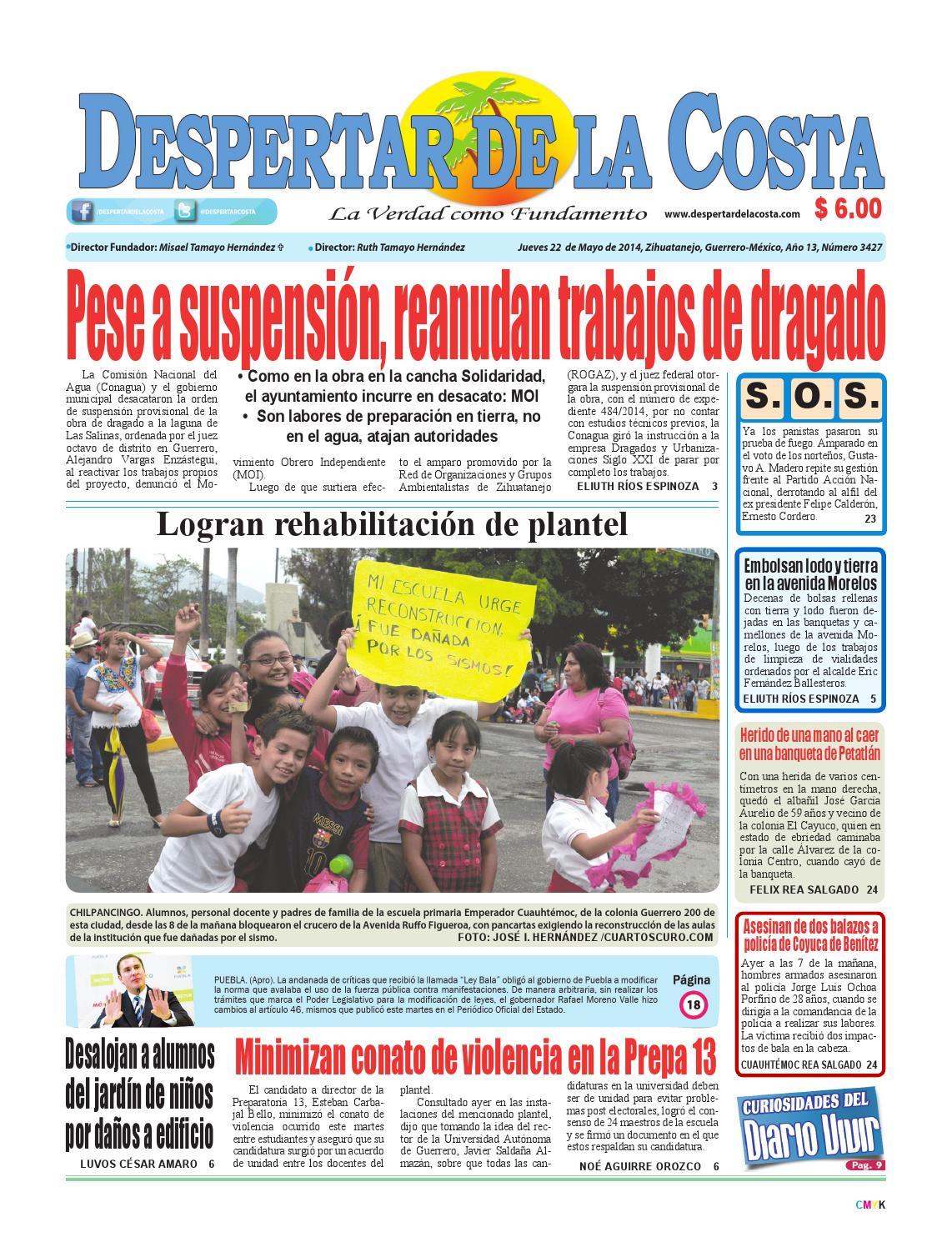 Edición impresa 22/05/14 by Despertardelacosta - issuu