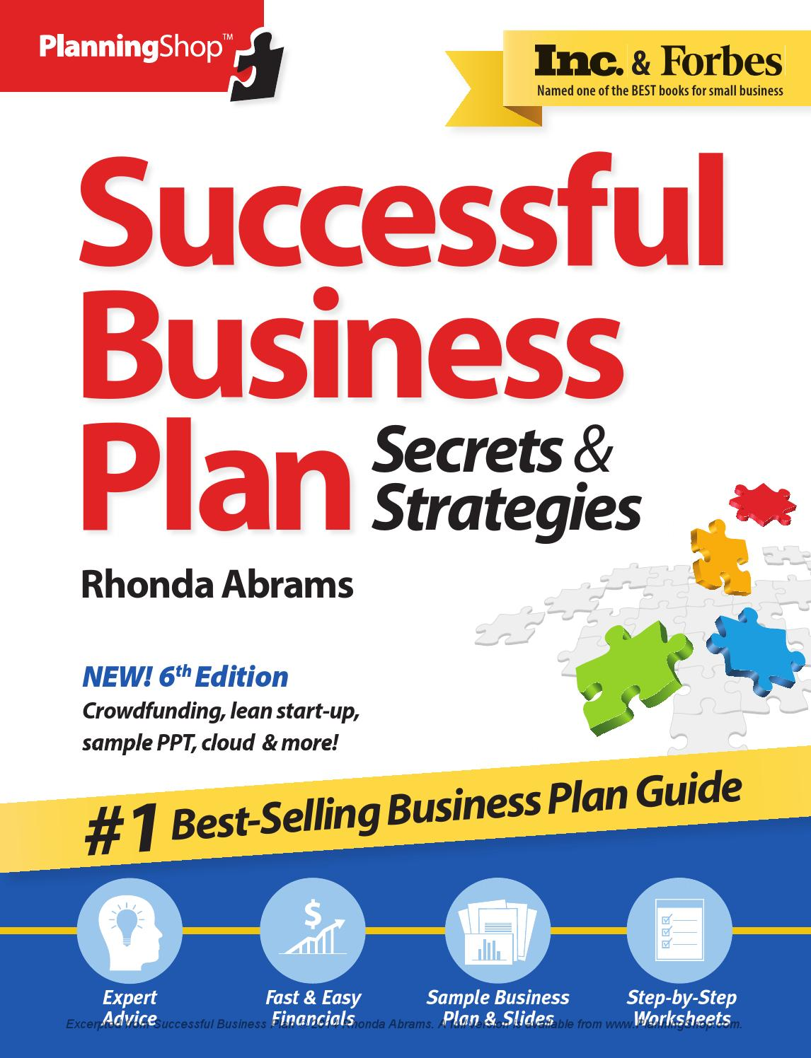 who writes a business plan