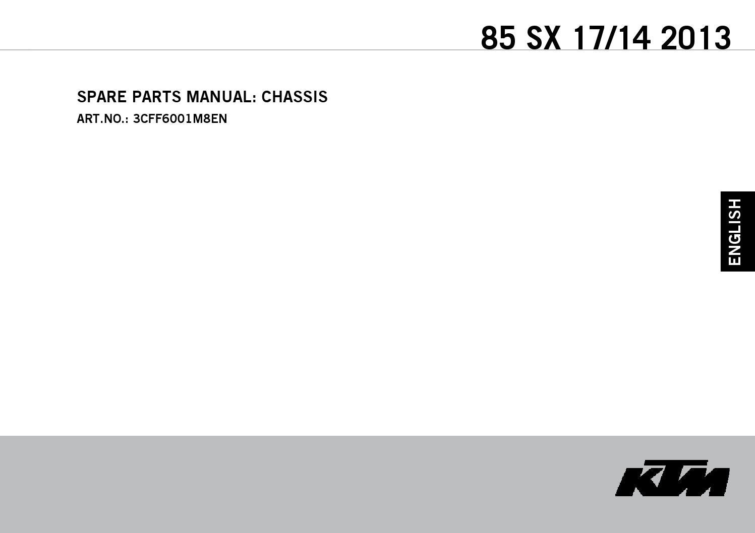 KTM FRONT MASTER HAND BRAKE CYLINDER REPAIR PISTON KIT 85 SX 2013 70002032000